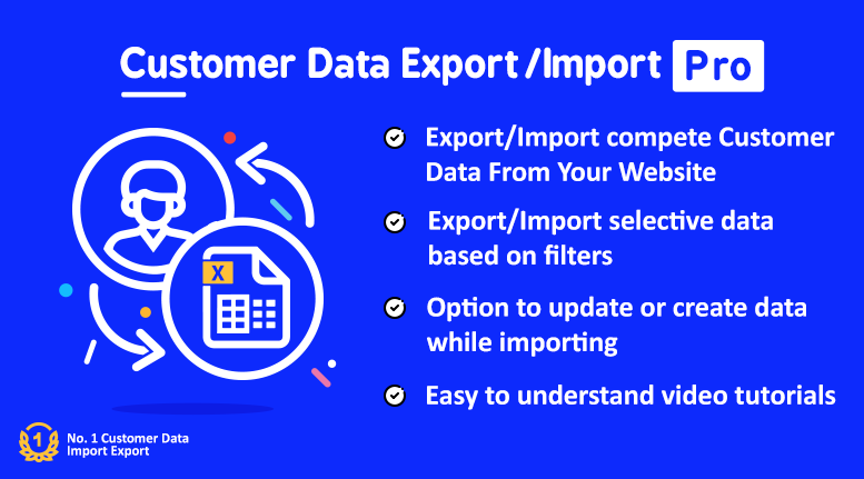 Customer Data Import Export Pro - With Migration Features