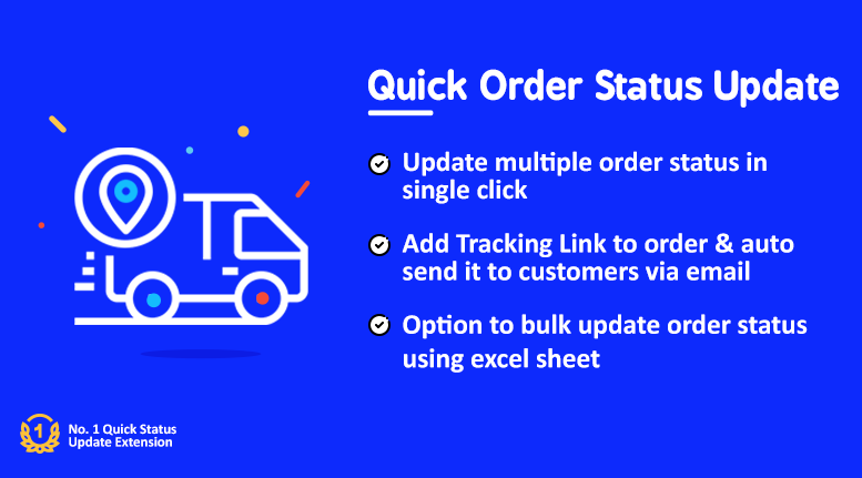 Quick/Bulk Order Status Update Pro(+ Tracking Link)