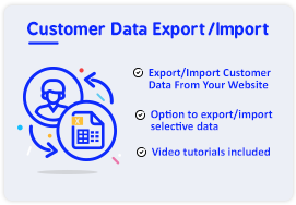 customer data export import