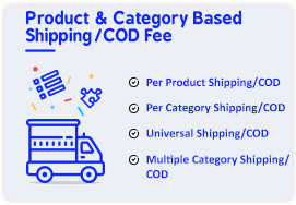 per product shipping and cod