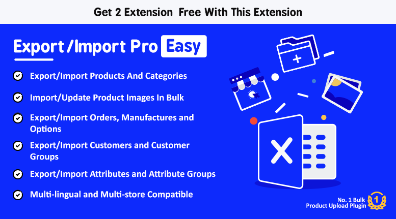 Export/Import Pro Easy - Add, Update Products via Excel/CSV